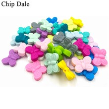 5pc Silicone Butterfly Beads BPA Free Teething DIY Bead Animal Silicone Bead For Pacifier Making Baby Teether Accessories 100pcs silicone beads 9mm round bpa free diy bead for tooth silicone teether necklace jewelry making baby teething toys