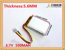 3.7V,500mAH [562438] PLIB (polymer lithium ion / Li-ion battery ) for Smart watch,GPS,mp3,mp4,cell phone,speaker