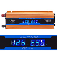Car Inverter 2600W Dc 12V To Ac 220V Digital Display Voltage Modified Sine Wave Power Overload