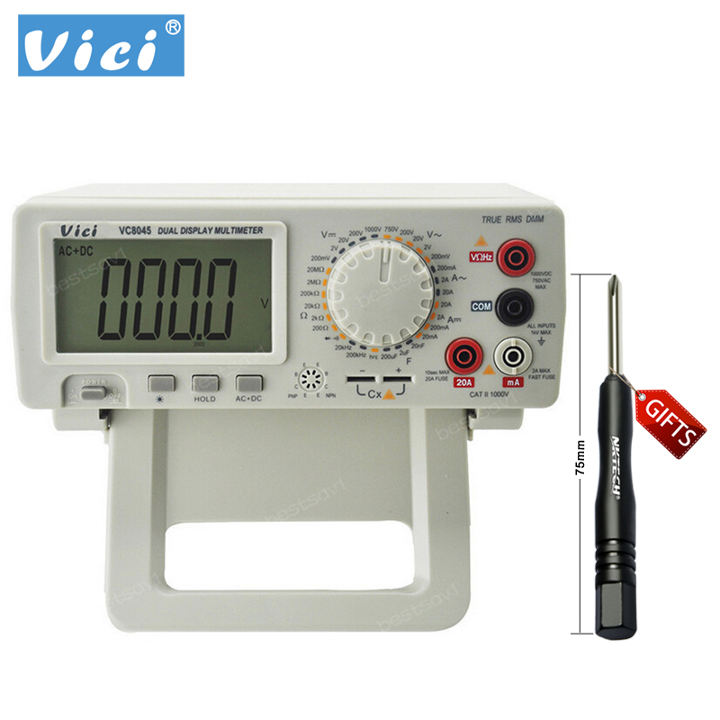 Digital Multimeter Vici VICHY VC8045 Bench Top 4 1/2 True RMS DCV/ACV/DCA/ACA DKTD0122 Drop Free shipping digital multimeter bench top 4 1 2 true rms dcv acv dca ac precision desktop multimeter vici vc8045