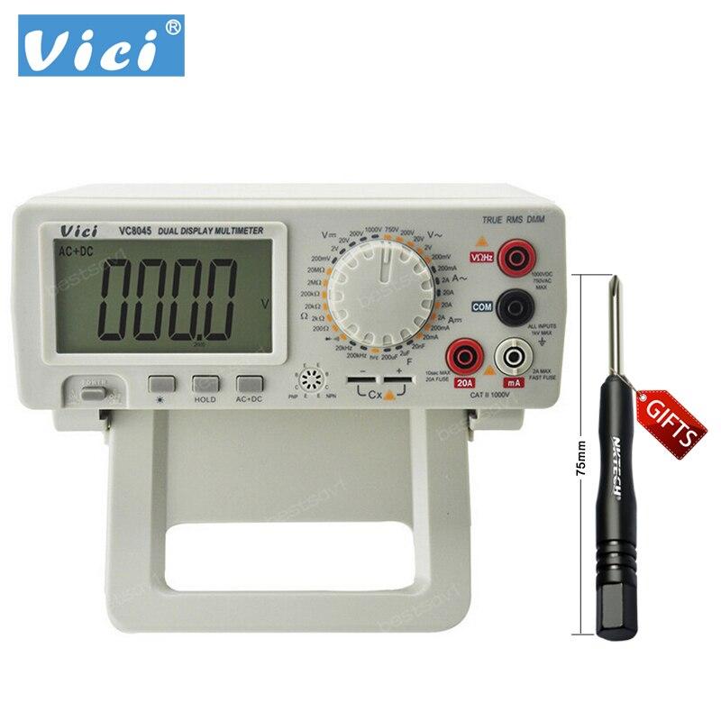 Multimetro digitale Vici VICHY VC8045 Bench Top 4 1/2 True RMS DCV/ACV/DCA/ACA DKTD0122 Goccia spedizione gratuita