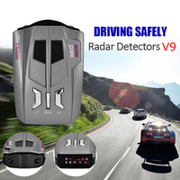 10pcs V9 12V Car Radar Detector English Russian Voice Language LED Display Driving Safely Avoiding Fine