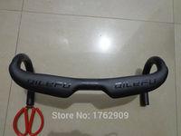 Newest Black QILEFU Road Bike Racing UD 3K Full Carbon Fiber Bicycle Handlebar Internal Cable Parts