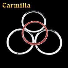 Carmilla Chrome Door Speaker Ring Cover Speaker Decoration Trim Sticker for Nissan Xtrail X-Trail Rogue T32 2014 2015 2016 2017
