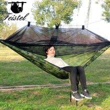 Draagbare 300*140 260*140 Cm Size Tuin Swing, Camping Bed, Anti Mug Hangmat. Er Zijn Verschillende Kleuren Om Uit Te Kiezen