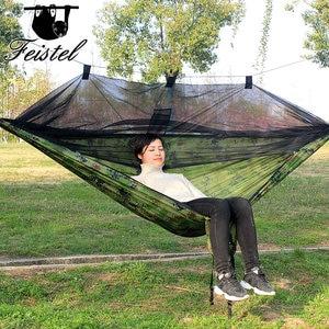 Image 1 - Tragbare 300*140 260*140 cm größe garten schaukel, camping bett, anti moskito hängematte. Es sind verschiedene farben zu wählen aus