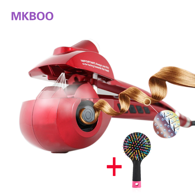 Automatic Hair Curler Ceramic Hair Steam Curler Professional Curling Irons Wand Hair Care Styling Tools Magic Hair Styler Stick ckeyin 9 31mm ceramic curling iron hair waver wave machine magic spiral hair curler roller curling wand hair styler styling tool
