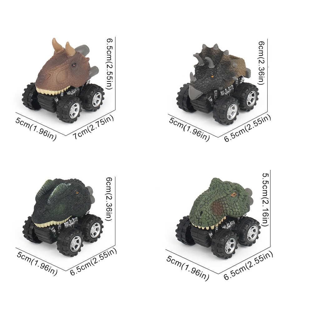 Mini Brinquedo Do Dinossauro Tiranossauro Dinossauro Criativo Modelo de Carro Criança Carro Modelo Com Pneu Puxar Para Trás Bom Presente Parte de Trás do carro Dragão