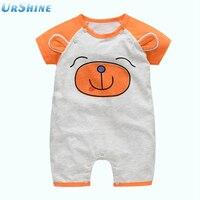 2018 Een Stuk Zomer Korte Mouw Oranje Baby Jongens Meisjes Mooie Animal Romper Verstoorde Jumpsuit Playsuit Baby Babykleding