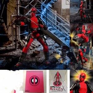 Deadpool X-mężczyźni Marvel superbohater Mezco: 12 kolekcja figurek z ozdoby zabawki