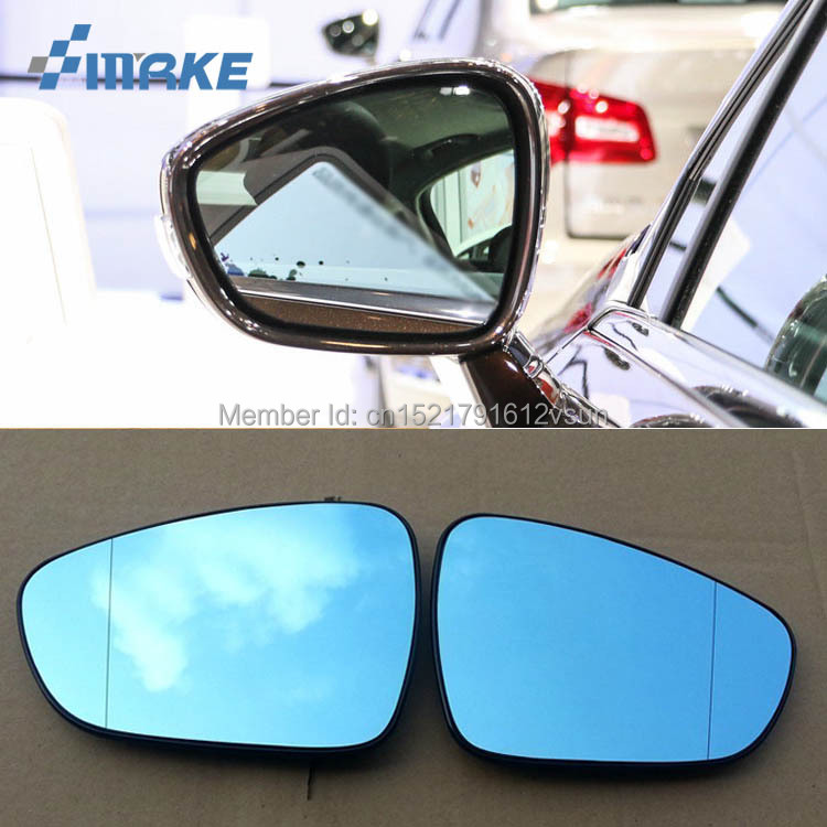 smRKE 2Pcs For Citroen C5 Rearview Mirror Blue Glasses Wide Angle Led Turn Signals light Power
