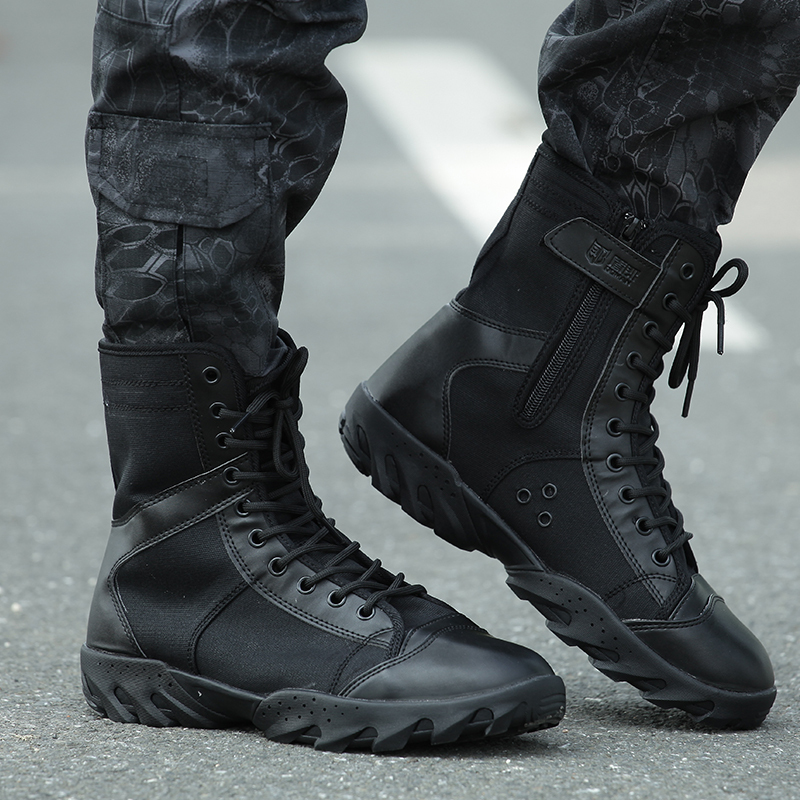 tactical men 39 s desert camouflage military tactical boots men outdoor combat army boots climb on. Black Bedroom Furniture Sets. Home Design Ideas