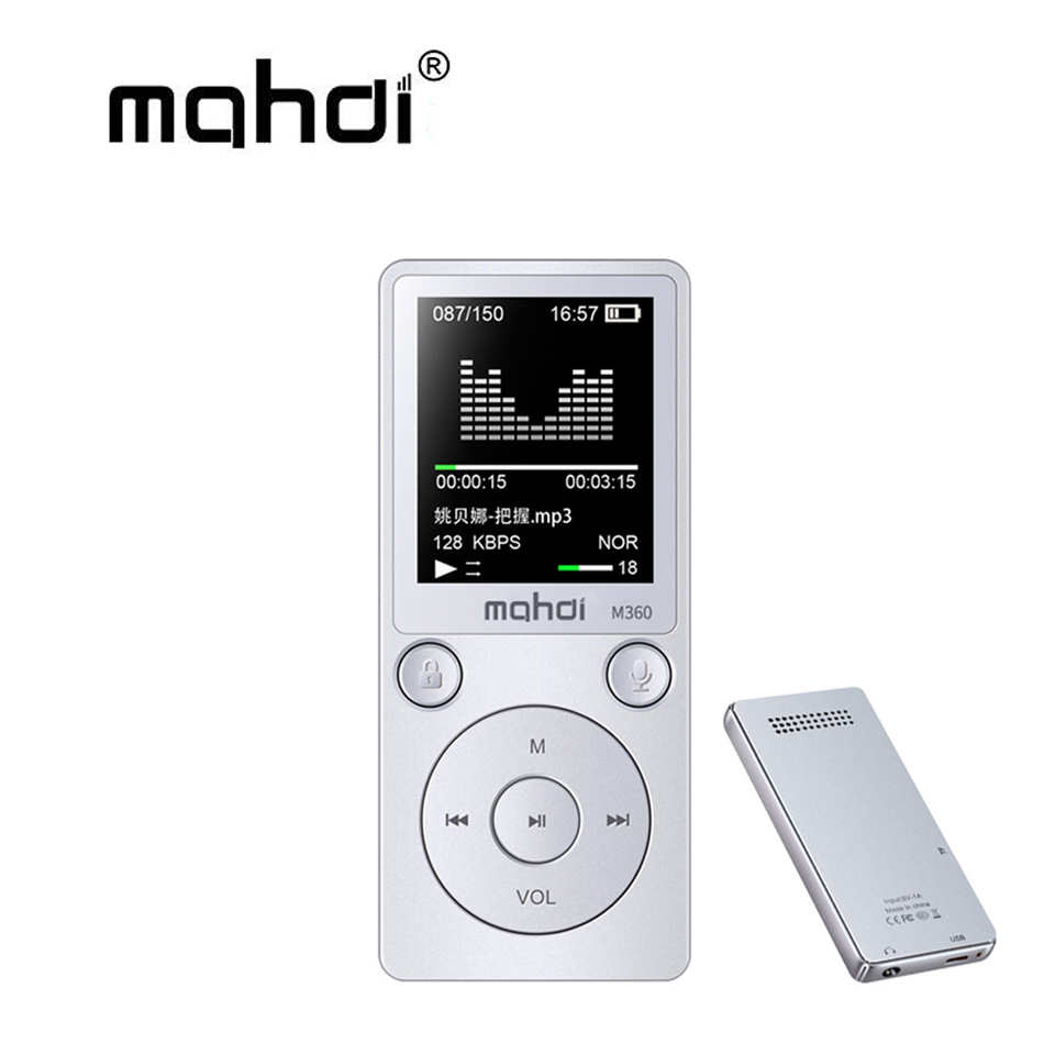 Mahdi M360 Metal 1.8 Flac MP3 Player 8GB High Sound Entry-level Lossless with FM Radio E ...
