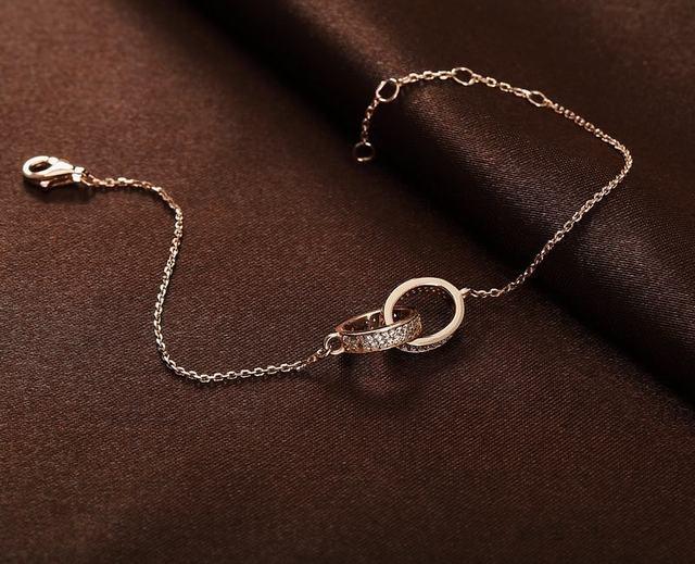 Moda romántica con encanto 925 pulsera redonda con AAA circón cúbico mejor regalo para para PU007