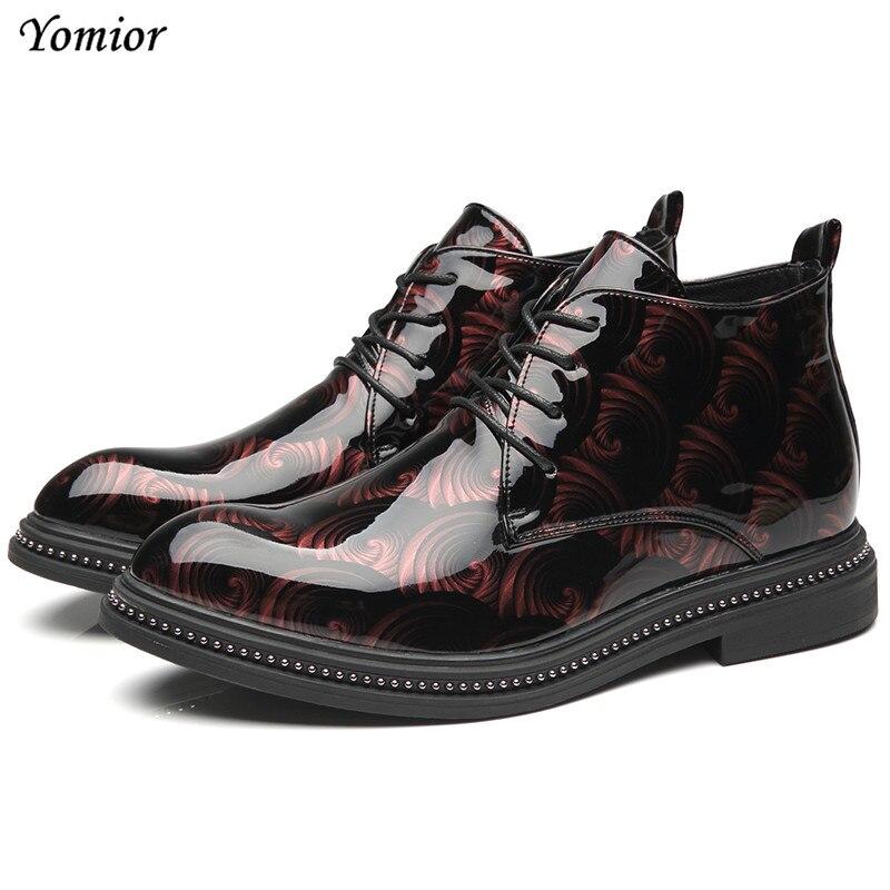 Clever Yomior Herbst Winter Männer Leder Stiefel Britischen Mode Spitz Casual Schuhe Plattform Hohe Qualität Komfortable Stiefeletten Diversifizierte Neueste Designs