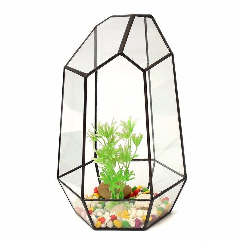 Bonsai Irregular Glass Vase Tabletop Succulent <font><b>Plant</b></font> Terrarium Container Box Planter Flower Pot DIY Home Garden Ornament