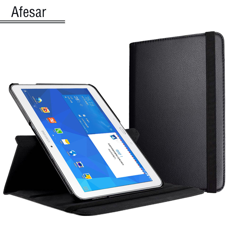 Tab 4 10.1 T530 T531 T535 360 Rotating pu leather smart cover for Samsung Galaxy Tab 4 10.1 Flip Case with magnet auto sleep luxury folding flip smart pu leather case book cover for samsung galaxy tab s 8 4 t700 t705 sleep wake function screen film pen