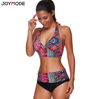 JOYMODE 2017 Swimwear Women Push Up Bikini Set Padded Ties Back Swimsuit XXL 3xl Plus Size