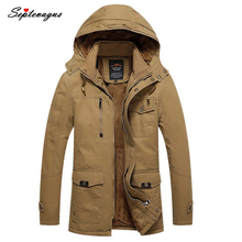 Winter Jacket Men Casual Cotton Thick Warm Jackets Men's Outwear Parkas Plus size 4XL Coats Windbreak Snow Military Jacket