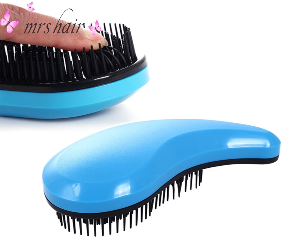 Hot Fashion Comma Tangle Hair Brushes Combs 8 Color Available For Women's Fashion Hairbrush Magic Detangling Handle Tangle