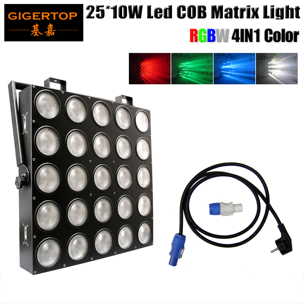 Freeshipping 25 Head Led Matrix Light 25*10W RGBW Cree 4IN1 Color 110/100/40/7 DMX Channels IP20 Audience Wash Blinder Audience audience response towards television advertisements