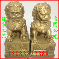 Bronze statue copper lion decoration lion a pair of beijing lions lucky