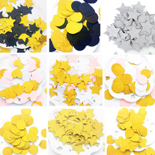 100pcs Heart Star Paper Confetti Wedding Baby Shower Kids Birthday 3cm Cake Decor Table Decoration Scatter