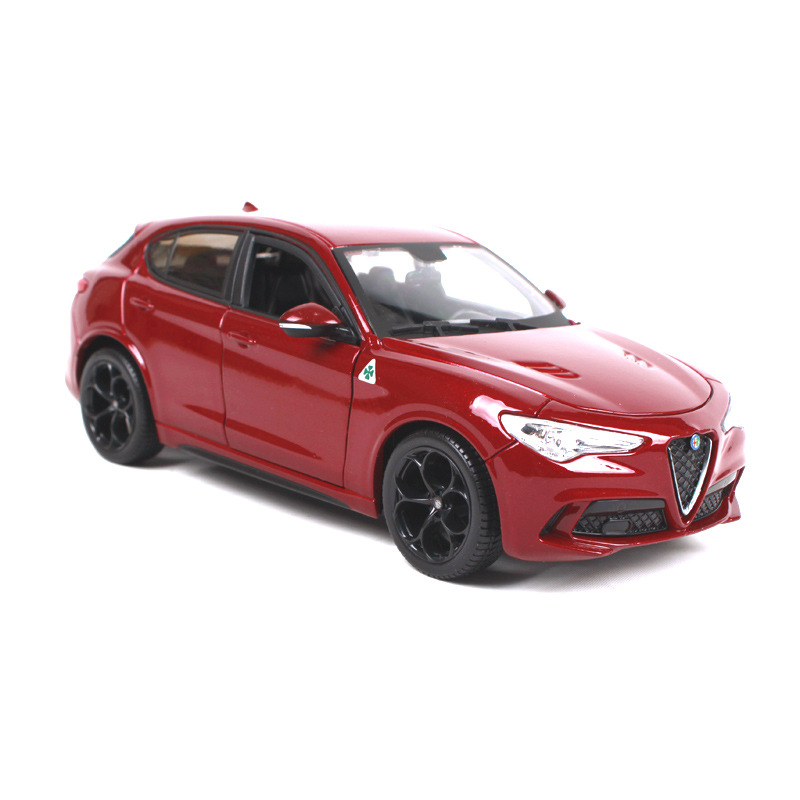 High quality 1:24 Alfa Romeo Stelv10 SUV zinc alloy model car,collection and gift metal simulation car model,free shipping