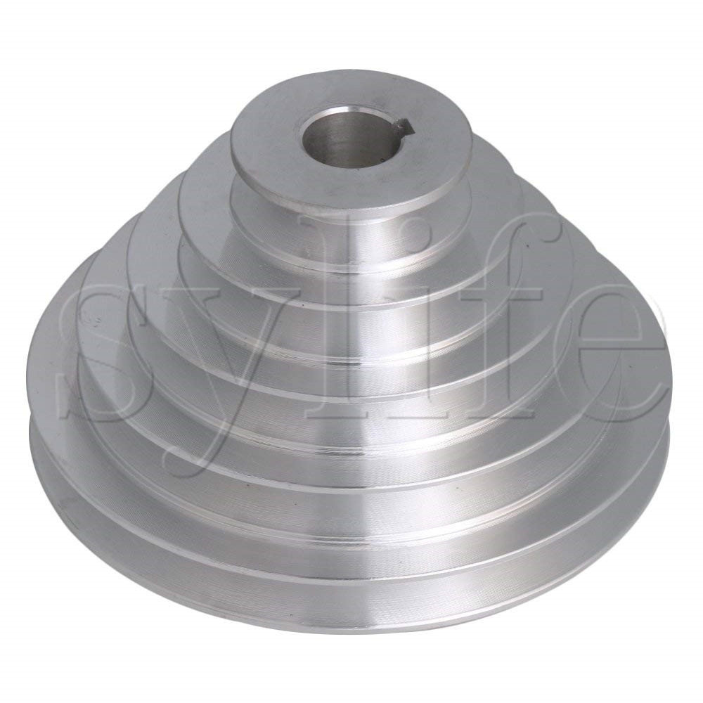 5 Step A Type V Belt Pagoda Pulley Belt Outter Dia 54 150mm(Hole Dia 14mm,16mm,18mm,19mm,20mm,22mm,24mm,25mm,28mm)-in Pulleys from Home Improvement