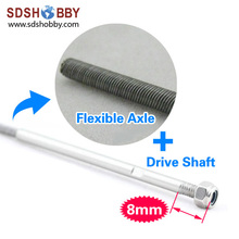 Flexible Axle Drive Shaft Dia A 4mm Dia B 3 17mm Length A 350mm for RC