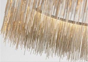 Image 3 - سلسلة قلادة شرابة الهواء الألومنيوم أضواء الشمال أضواء فيلا غرفة المعيشة الإبداعية مطعم محل مصابيح الديكور الحديث