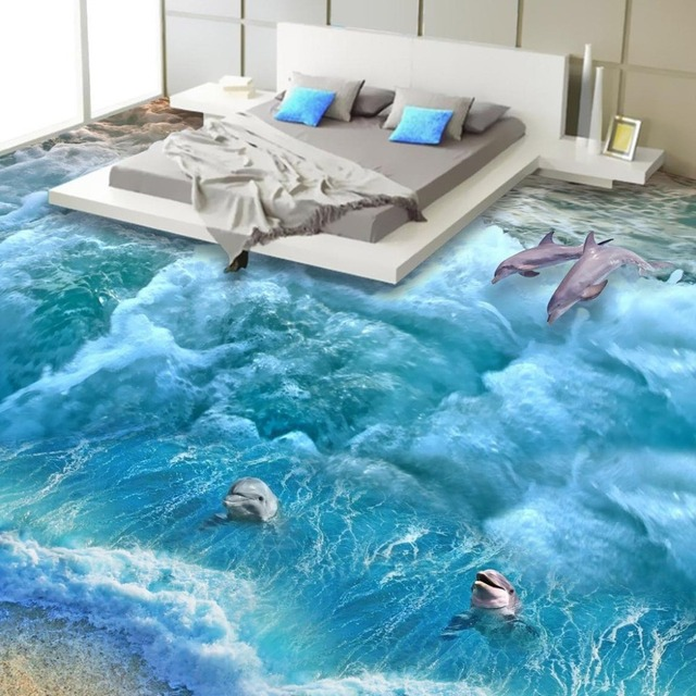 Living Room Background Animated: Floor Wallpaper 3d Fashionable Interior Design Beach