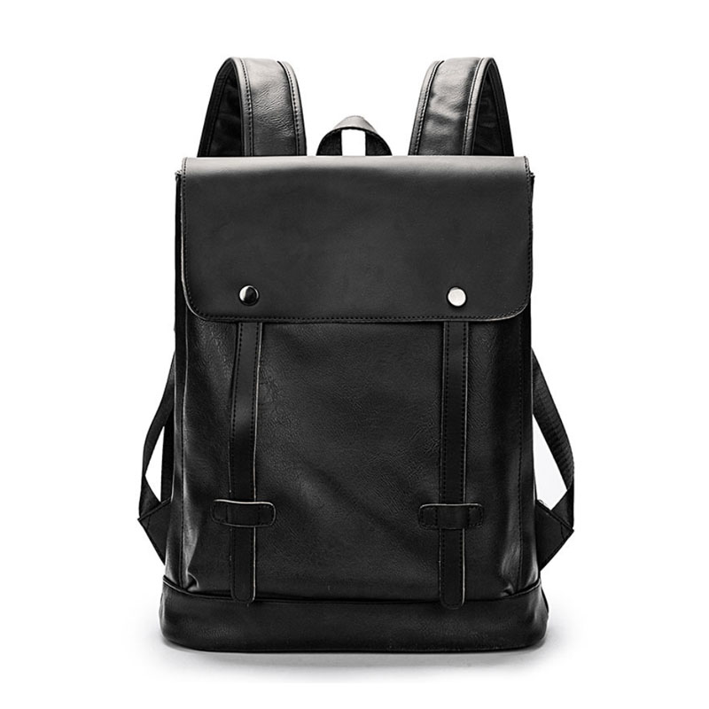 PU Backpack Vintage Laptop Bookbag for Women Men Brown Faux Leather College School Bags Modern Urban Outfitters Snap Backpacks недорго, оригинальная цена