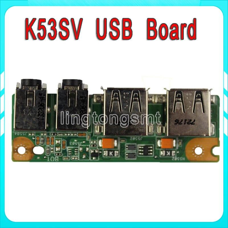 SAMXINNO For ASUS K53 K53SV K53SD A53S X53S K53S P53S USB AUDIO JACK BOARD IO BOARD asus k53 k53tk sx019d