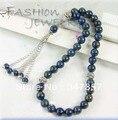33 Lapis Lazuli naturais contas grânulos de Oração Muçulmano Islâmico Tasbih frete grátis