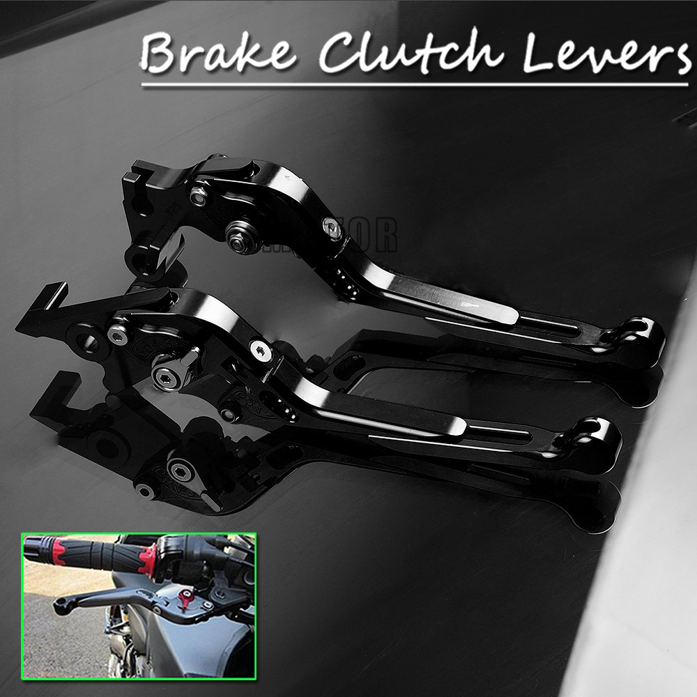 Motorcycle Pivot Clutch Brake Levers For Kawasaki ZX6R ZX636R Z750R ZX10R Adjustable Folding Handle Lever ZX