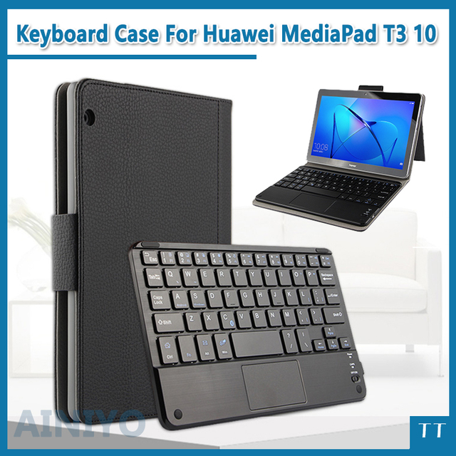promo code 9e39a 9f415 US $30.8 12% OFF|Bluetooth Keyboard Case For Huawei MediaPad T3 10 AGS L09  AGS L03 9.6