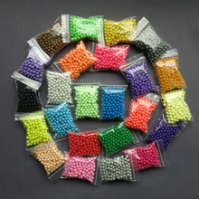 Aqua beads Solid Bead Refill Pack 24 Color Sticky Perler Beads Pegboard Set Jigsaw Water beadbond Bond Toy Puzzle 200pcs/bag