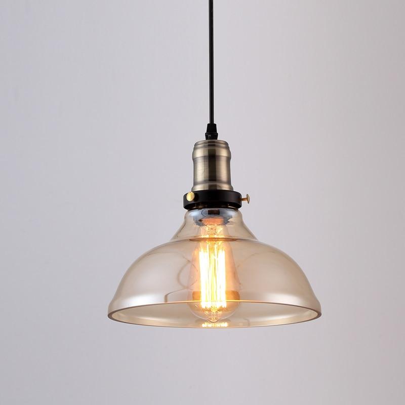 Suspension vintage américaine en verre clair suspension cloche suspension E27 110 V 220 V pour salle à manger décor à la maison planétarium