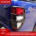 Автомобильные аксессуары для стайлинга  ABS Матовый черный задний фонарь  чехлы для FORD RANGER T6 T7 T8 2012-2020