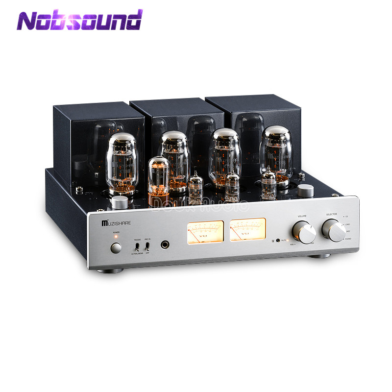 MUZISHARE X7 Hi-end Push-pull Stereo KT88 Valve Tube Amplifier Phono Preamp Dual High Pressure Integrated Power Amplifier 45W*2 2018 latest nobsound hi end 6n8p push pull psvane kt88 valve tube amplifier hifi stereo class a large power 45w 2 amplifier