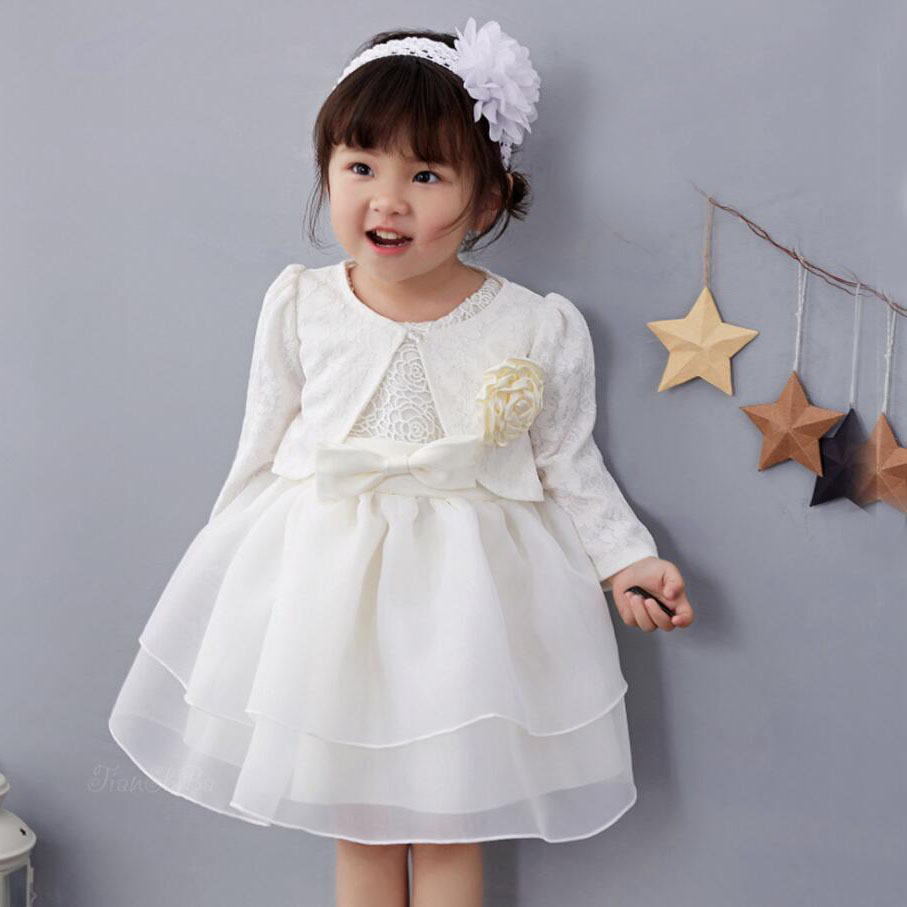 8910c8c3bee 3PCs per Set Baby Girl Baptism Dress Beige Infant Girl Christening Gown  Rose Flower Cape Flower Headband 0 24Months-in Dresses from Mother   Kids  on ...