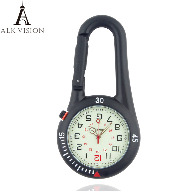 carabiner clip pocket watch for nurse fob medical sports watches vintage clock M
