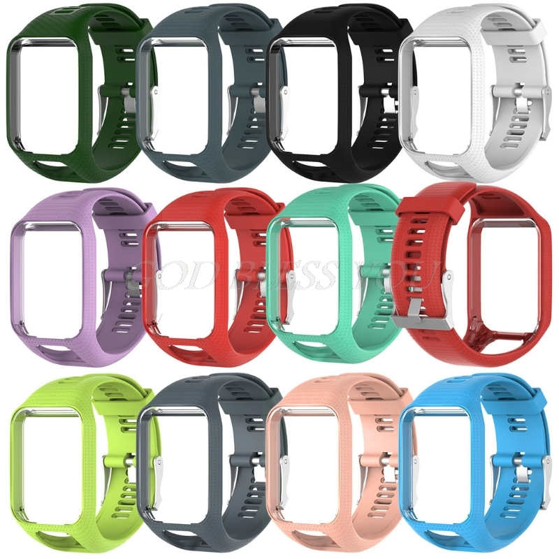 Silicone Remplacement Wrist Band Sangle Pour TomTom Runner 2 3 Spark 3 GPS Montre