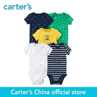 Carter S 5 Pack Baby Children Kids Clothing Boy All Seasons Cotton Short Sleeve Original Bodysuits