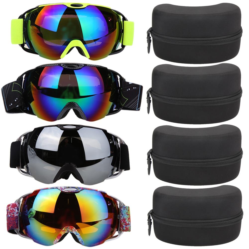 8658b5ea2d7 Unisex Double Lens UV400 Big Ski Mask Glasses Skiing Goggles Anti-fog Ski  Snowboard Winter Ice Snow Sports Eyewear with Case