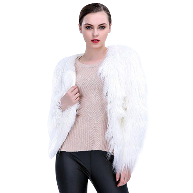 6XL Women Faux Fur LED Light Coat Christmas Costumes Cosplay Fluffy Fur Jacket Outwear Winter Warm Festival Party Club Overcoat 3