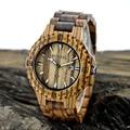FUNIQUE Men's Natural Wooden Watches Women Men Luxury Dress Wristwatch Shock Resistant Women's Wood Watch Quartz Date Clock Male