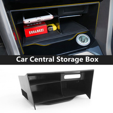 Car Central Storage Box Console Tidying Stowing Interior Accessoires For VW Volkswagen T-ROC 2017 2018 2019
