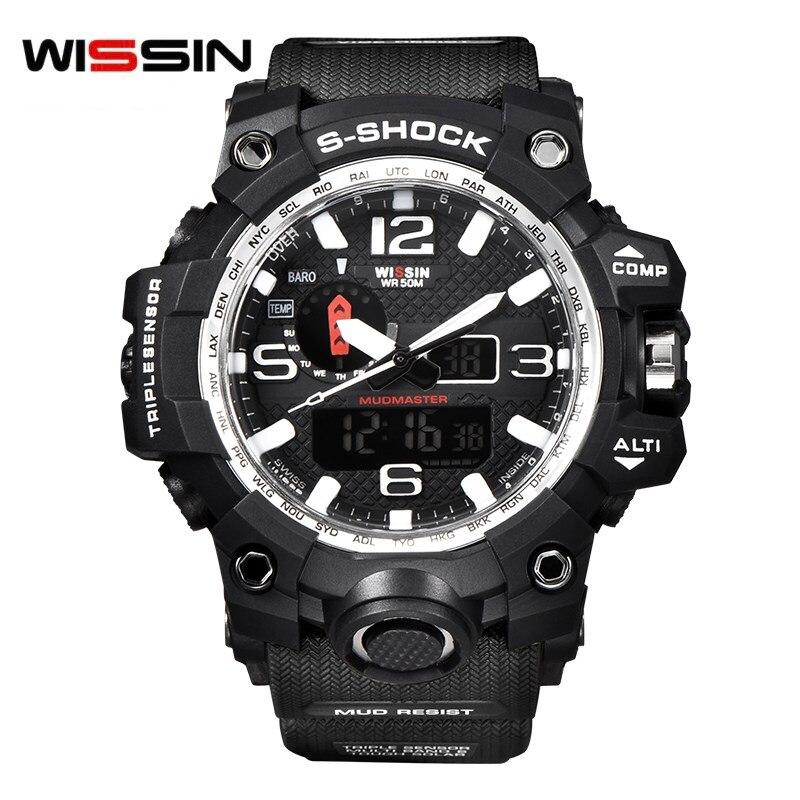 WISSIN top Brand Sport Wristwatch Luxury Watch Men LED Digital relogio Quartz Watches Man Army Military